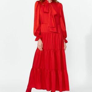 NWT, ZARA Ruffle Maxi Dress